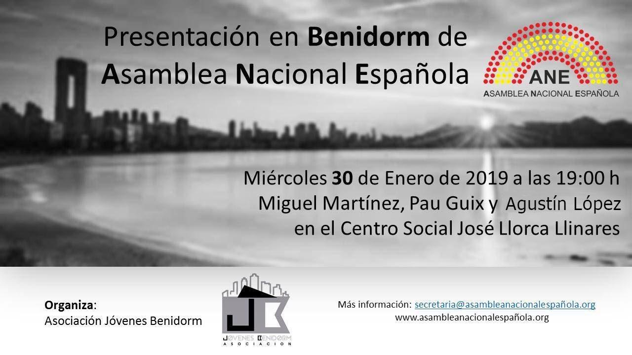 Presentación en Benidorm de la delegación en Alicante de la Asamblea Nacional Española